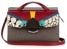 FENDI Demi Jour Bag Bugs small leather cross-body bag