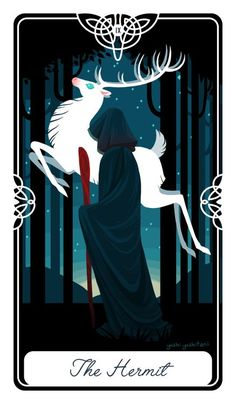The Hermit, Another card from my Fairytale Tarot Card project As always, if…
