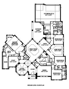 Unique House Plans lido bay ii house plan One Story Floor Plan Kida Love The Unique Layout But I Would Have To