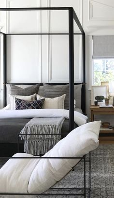Dark Bedroom Ideas - All the bedroom design ideas you'll ever need. Discover your style as well as develop your dream bedroom system regardless of what your budget plan, design or area dimension. Cozy Bedroom, Dream Bedroom, Home Decor Bedroom, Modern Bedroom, Master Bedroom, Bedroom Ideas, Bedroom Loft, Contemporary Bedroom, Design Bedroom