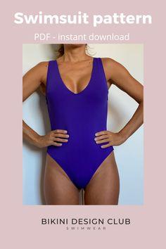 Swimsuits, Bikinis, Swimwear, Swimsuit Pattern, Paper Size, One Piece, Patterns, Collection, Design