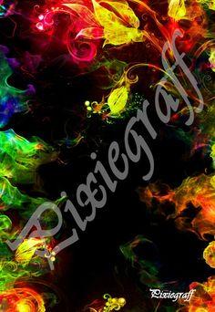 Fond pour photo : flammes/fleurs