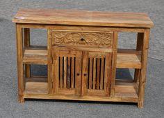 Waschtisch Unterschrank Teak alt Holz Waschbecken Bad Unterbau Wc Badmöbel Neu