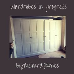 Shaker panel bespoke wardrobes Built In Furniture, Painted Furniture, Bespoke Wardrobes, Bespoke Kitchens, Bespoke Design, Wood Veneer, Real Wood, House Design, Building