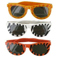 zoo party favors. Animal Print Plastic Sunglasses