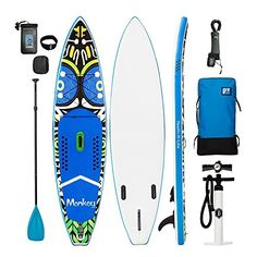 FunWater Inflatable Paddleboard Lightweight Folding Stand Up Paddle Board With Accessories for Explorer Adventure Surfing Touring Travelling, Thick) : Sports & Outdoors Inflatable Paddle Board, Paddleboarding, Stand Up, Surfboard, Touring, Skateboard, Monkey, Travelling, Boards