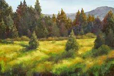 "Daily Painters Of Colorado: Contemporary Colorado Mountain Landscape Oil Painting ""Autumn's Grace"" by Colorado Landscape Artist Barbara Churchley"