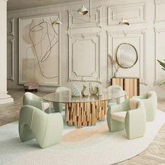 Interior Design Living Room, Living Room Decor, Interior Decorating, Bedroom Decor, Interior Exterior, Interior Architecture, Villa, Luxury Dining Room, House Rooms