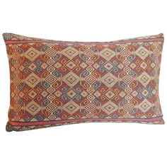Orange Ikat Bolster Pillow | From a unique collection of antique and modern pillows and throws at https://www.1stdibs.com/furniture/more-furniture-collectibles/pillows-throws/