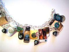 Starbucks coffee Charm Bracelet- I WANT! I HAVE to have! I NEEEEED!