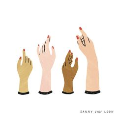 A collection of mannequin hands by Sanny van Loon • Illustration