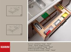 Accessories - Scavolini - modern - Cabinet And Drawer Organisers - Melbourne - Scavolini Kitchen, Living and Bathroom