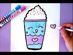 HOW TO DRAW A KAWAII ANANS - CUTE FOOD DRAWING - YouTube