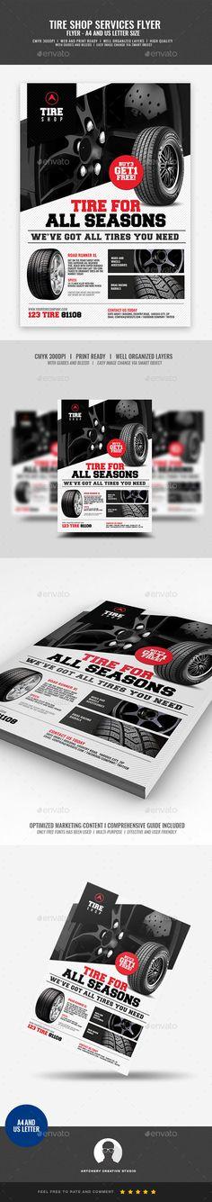 Tire Shop Promotional Flyer
