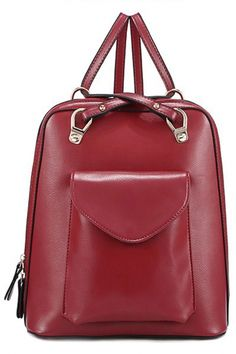 Must-Have PU Leather Backpack - OASAP.com