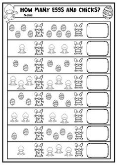 A Little Easter Eggs and Chicks Addition Worksheet.