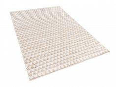 Dywan beżowy - 80x150 cm - poliester - bawełna - juta - TUNCELI_513392