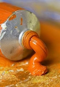 Don't you just want to smush a brush in it and start painting something?? | orange paint  .:. Image Credit:  http://baenk.com/orange/  .:.  expand the pin and click to go to Snow.EnergyGoldRush.com