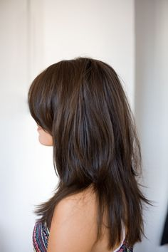 Long layers with a long swoopy bang-love this for fall.