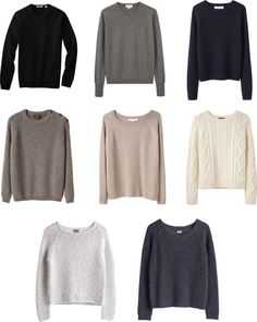 """""""Capsule Wardrobe--Sweaters"""" by keelyhenesey on Polyvore"""