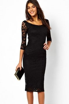 Cheap midi dress, Buy Quality gown dress directly from China vestido casual Suppliers: 2018 Sexy Elegant Pretty Lady Black Lace Overlay Evening Midi Dress vestidos casual long summer casual gown dress Sexy Lace Dress, Lace Sheath Dress, Lace Midi Dress, Sexy Dresses, Casual Dresses, Fashion Dresses, Dress Up, Bodycon Dress, Party Dresses