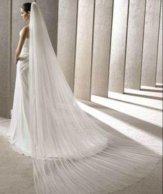 2013 High Quality Latest Custom Made Floor Length Long Wedding Veil Crystal(SR609)