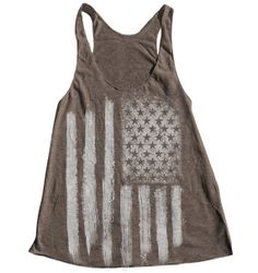AMERICAN FLAG Women Tank Top American Apparel by Couthclothing