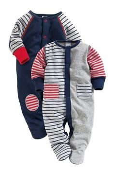Buy Navy And Grey Sleepsuits Two Pack online today at Next Direct United States of America