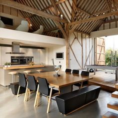 """Thatched Barn by Bulthaup by Kitchen Architecture #homeadore #kitchen #diningroom #interior #interiors #interiordesign #interiordesigns #residence #villa…"""
