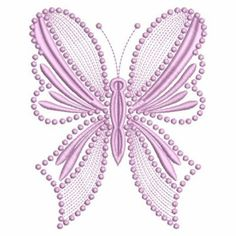 candlewicking embroidery designs | Candlewicking Butterfly embroidery design