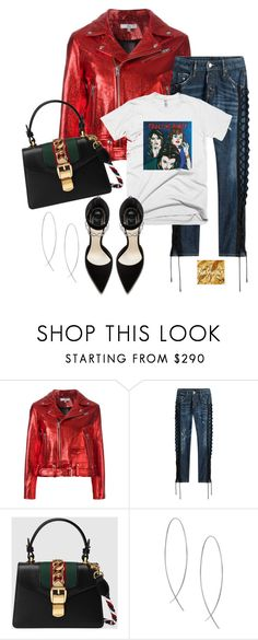 """""""Untitled #1040"""" by thestylewalker ❤ liked on Polyvore featuring IRO, Dsquared2, Gucci and Lana"""