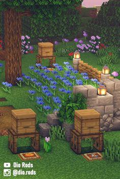 Minecraft Garden, Minecraft Cottage, Easy Minecraft Houses, Minecraft House Tutorials, Minecraft Plans, Minecraft House Designs, Minecraft Survival, Minecraft Decorations, Amazing Minecraft