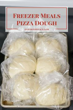 Easy Freezer Meals Homemade Pizza Dough. Who needs take out when you have your freezer loaded with homemade pizza dough ready to rise via flouronmyface.com