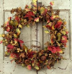 Maple Leaf Fall Front Door Wreath