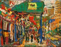 "PHILIP LAWRENCE SHERROD NA/- (STREET*PAINTER)-*PAINTING*-..(*NYC*/-..*PLEIN*AIR*!)?(*FOUNDER*/-..-*STREET*PAINTERS*NYC)!?  TITLE: -""6THAVE./-*SCAF*FOLD*ING/-..*PEOPLE*/-..&*LOOKING..-(UP**TOWN!?)""  MED:O/C   SIZE:18"" X 24""   DATE:2005-(C)"