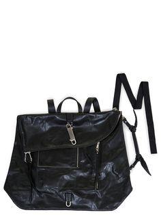 RICK OWENS SS20 TECUATL MONSTER DUFFLE BAG IN BLACK LEATHER Calf Leather, Black Leather, Rick Owens, Calves, Backpacks, Zipper, Bags, Men, Handbags