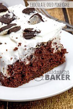 Chocolate Oreo Poke Cake