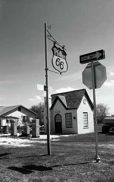 Route 66 - An old Phillips 66 Gas Station in McLean, Texas.
