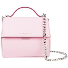 45a691f8152 Givenchy Pandora Box bag found on Polyvore featuring bags, handbags, shoulder  bags, givenchy shoulder bag, pink purse, givenchy handbags, snap closure  purse ...
