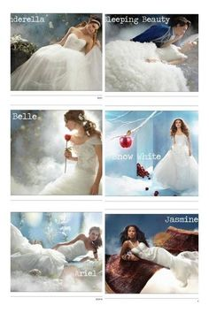 Disney princesses wedding dress... Don't like the mermaid styles but I love belles the most
