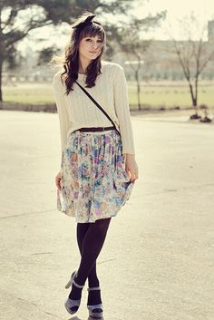 Such an awesome outfit. The shoes, the skirt, the sweater. I need to dress like this.   - Everyone. I just got some new shoes and a nice dress from here for CHEAP! Check out the amazing sale. http://www.superspringsales.com