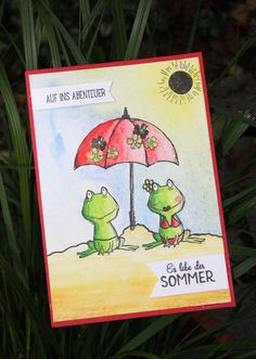 Zauberhaft-handgemacht, Sommerpost, Love you lots, SU Katalog 2016/17, Aquarell