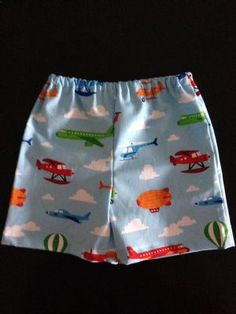 'Way Up High' Baby Boy Shorts $13.50 (FREE Postage within Australia) Handmade. Find us on Facebook; BoyCot Baby.