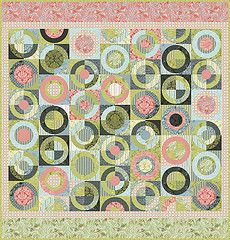 neptune by the great Tula Pink    Using this as inspiration for a circle quilt in similar colors.  Been cutting circles all morning :)