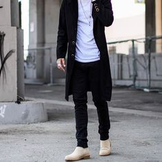 WEBSTA @ menwithstreetstyle - Great outfit from at… Men Street, Street Wear, Daily Fashion, Mens Fashion, Street Fashion, Mens Clothing Styles, Style Guides, Fashion Forward, Chelsea Boots