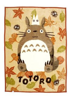 """My Neighbor Totoro blanket 78x55""""...my pen pal Youko from Japan is selling this on her ebay site, totally awesome. Her id is momo_japan so check her out"""
