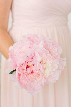 Pretty pink peony bouquet: http://www.stylemepretty.com/new-jersey-weddings/gladstone-new-jersey/2016/02/29/classic-black-tie-wedding-with-pretty-pink-peonies/ | Photography : Love & light - http://www.loveandlightphotographs.com/