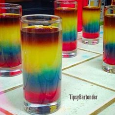 Meister on Mars Shots - For more delicious recipes and drinks, visit us here: www.tipsybartender.com