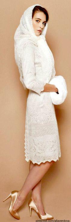 A LA RUSSE Anastasia Romantsova ~ Pre-Fall 2013 ~ Orenburg down dress | The House of Beccaria#