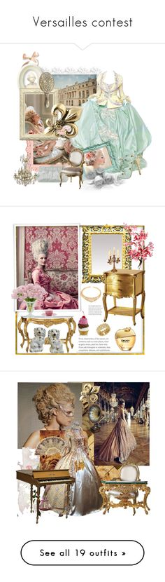 """""""Versailles contest"""" by magnolialily-prints ❤ liked on Polyvore featuring GAB, Julia Cocco', vintage, VintageInspired, gownsgalore, marieanntoinette, interior, interiors, interior design and home"""